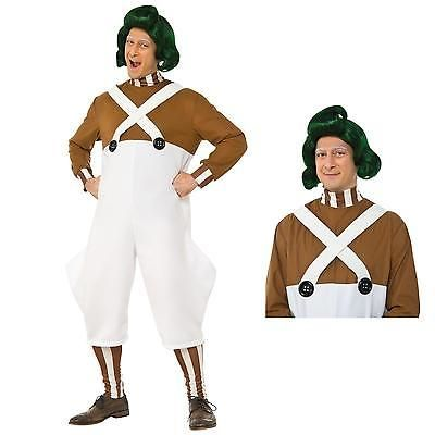 Attire 116101: Willy Wonka Oompa Loompa Costume Bundle Set Adult -> BUY IT NOW ONLY: $40.49 on eBay!