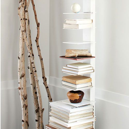 Wonderful Sapien Bookcase Images With Small Home Office Layout And Stand Alone Bookcase Also Reading Chair And Table
