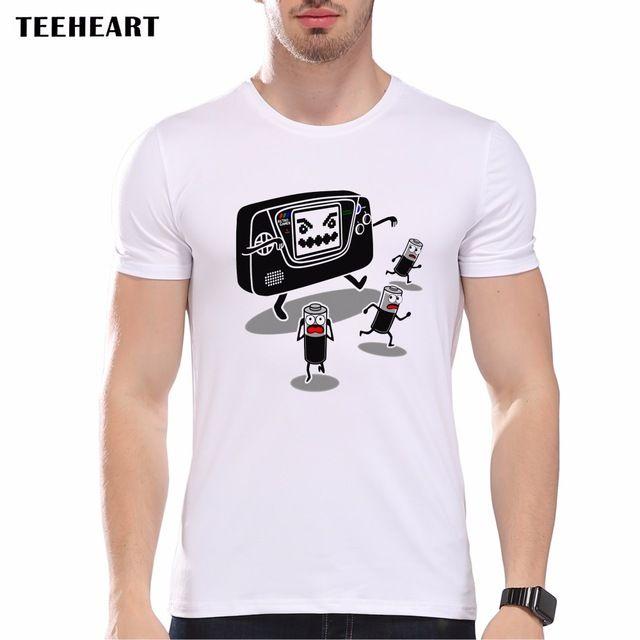 TEEHEART Summer Batteries Nightmare Video Game T Shirt Men's High Quality Custom Printed Tops Hipster Tees Short Sleeve pb631