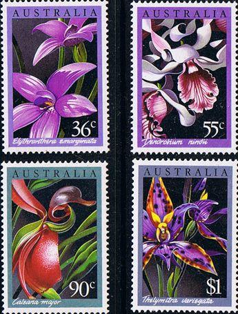 Australia 1986 Native Australian Orchids Set Fine Mint SG 1032/5 Scott 997/1000 Other Australian Stamps HERE