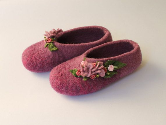 Winter Hausschuhe Filzschuhe Princessinschuhe von LITTAUdesign