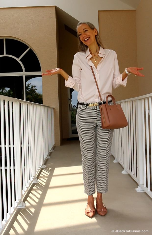 (Video) Blush Pink Button-Up Shirt and Patent-Bow ...