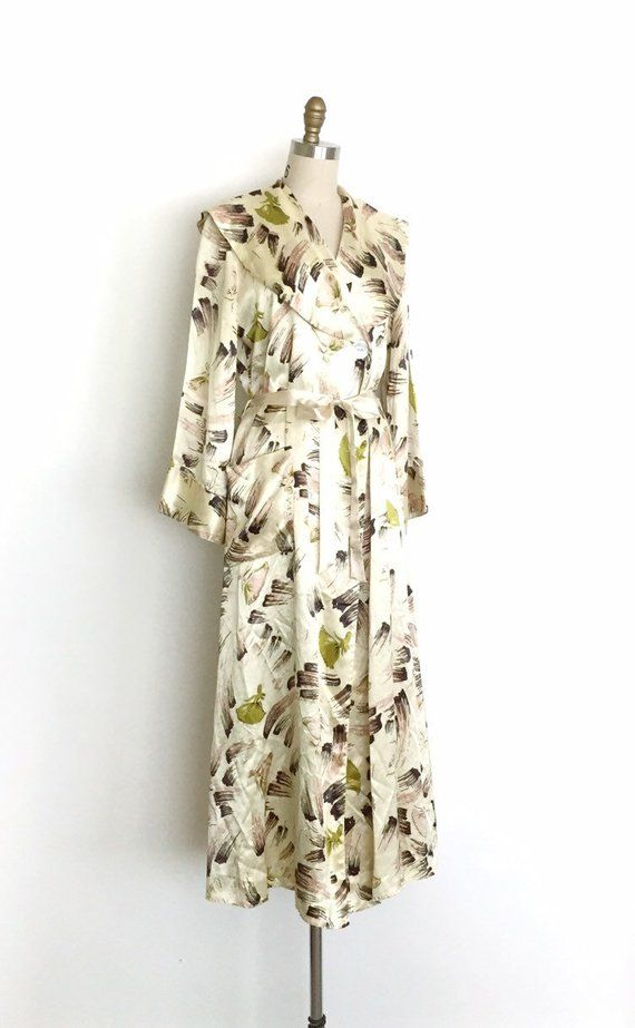 23cd6c043d vintage 1950s dressing gown 50s ballerina novelty print robe