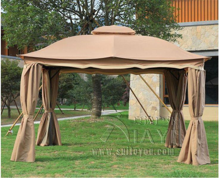 Amazing x meter deluxe aluminum patio gazebo tent garden shade pavilion roof furniture house waterproof