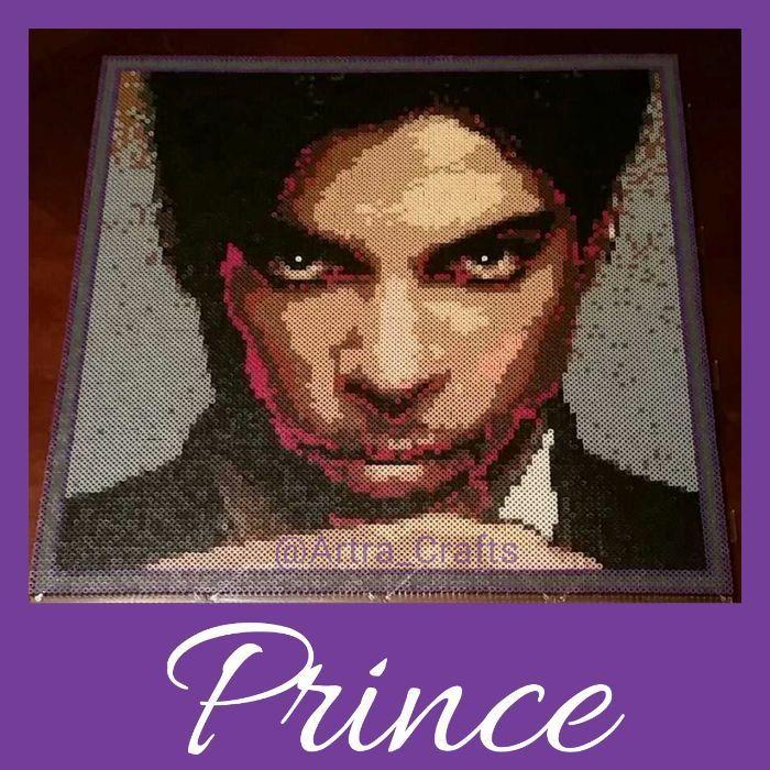 Prince portrait (1958-2016) perler beads by Akhlut_Horror