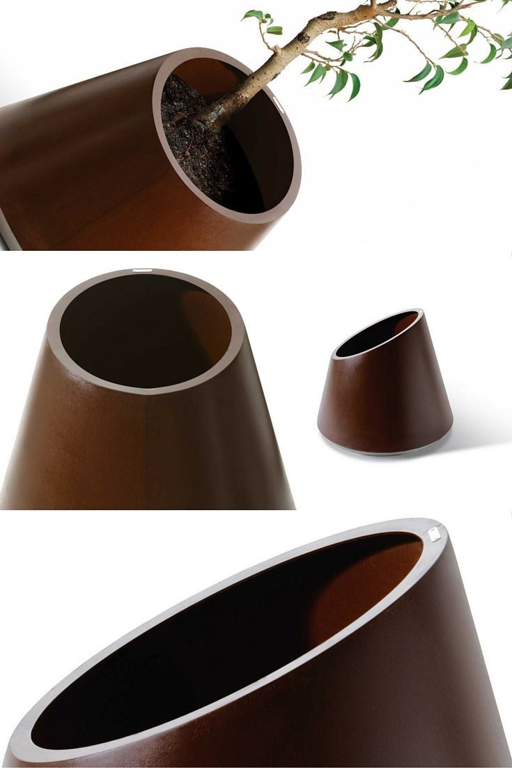 The Eccentrica Planter, In Corten Or Stainless Steel, Is Able To Give  Character To The Most Basic Area.