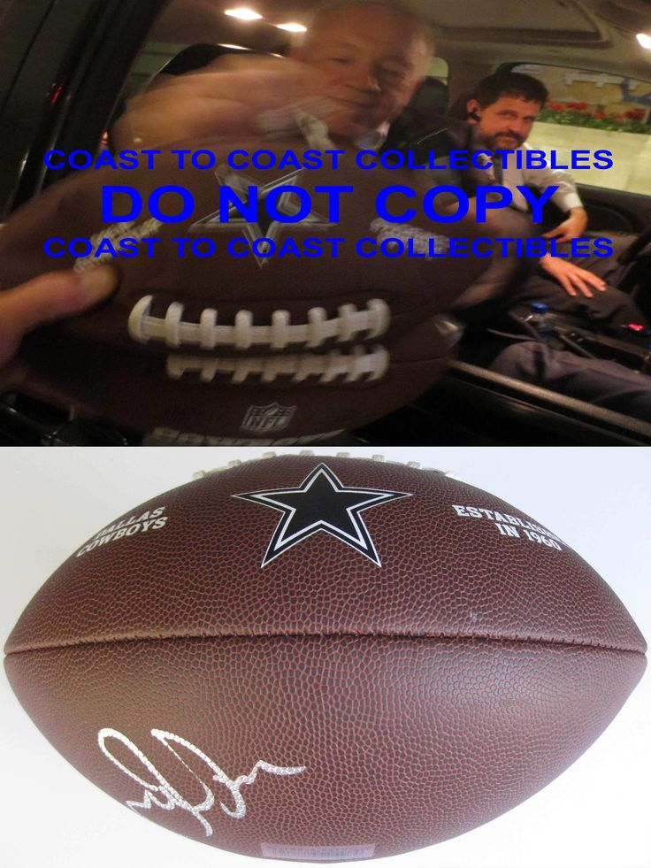 Jerry Jones, Dallas Cowboys, Owner, Signed, Autographed, NFL logo Football, a COA with the Proof Photo of Jerry Signing Will Be Included with the Football