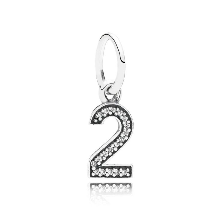 Cheap Pandora 791340CZ Number Two Pendant Charm Online