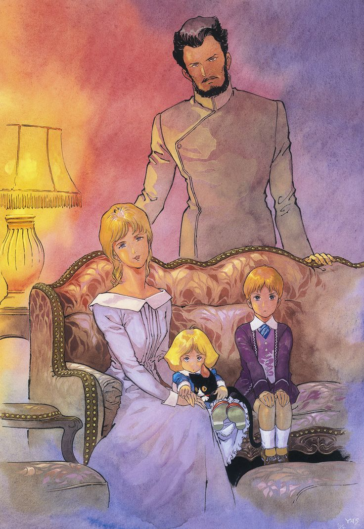 Deikun Family Portrait from Mobile Suit Gundam: The Origin by Yoshikazu Yasuhiko