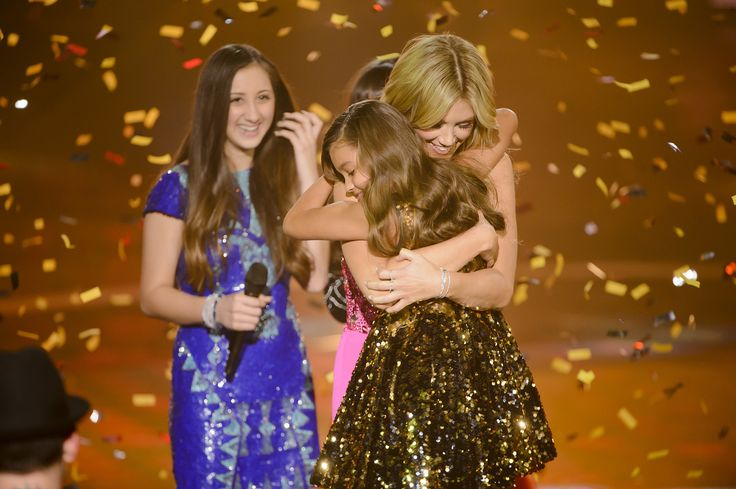 Alexa and Delta Goodrem on The Voice Kids Australia.