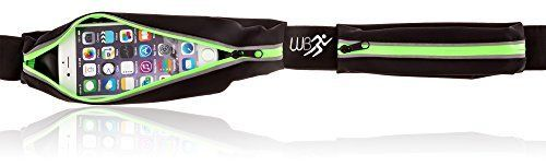 Running Fanny Pack for iPhone 6 Plus. Waterproof Reflective iFitness Fuel Belt. Runner Waist Pack of Premium Quality with Dual Waterproof Pouches By WhizzBoss - Zero Bounce, Comfortable & Reflective. Keeps Valuables Safe - Enhance Your Exercise Now! WhizzBoss