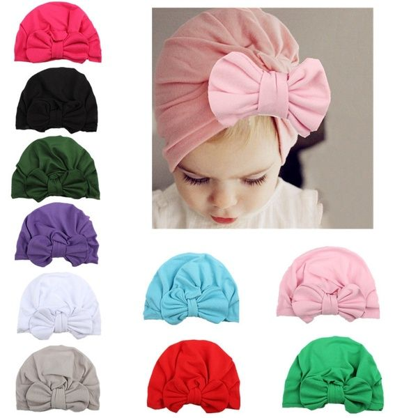 Indian Hat Newborn Turban Beanie Baby Cap Children Headwear Knot Headwraps