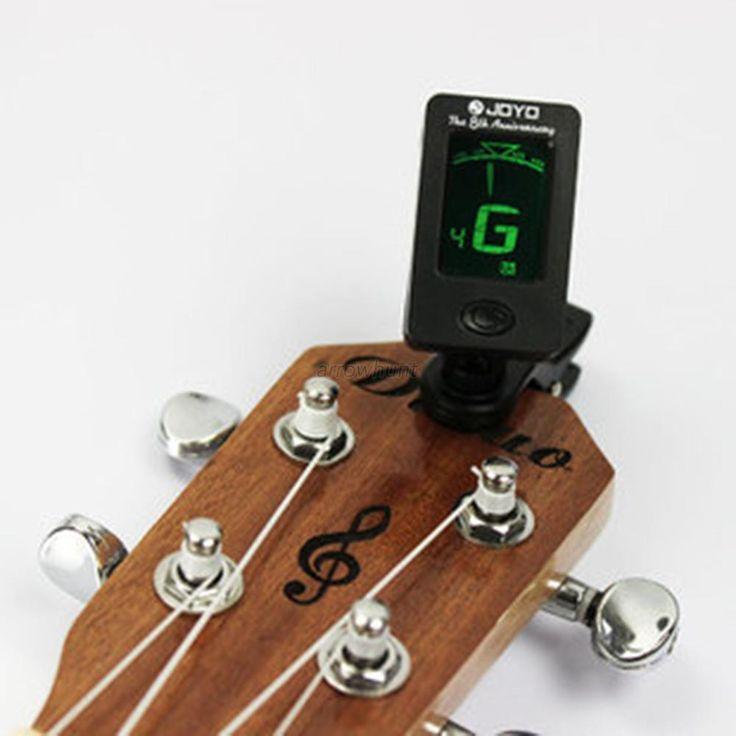 クロマチッククリップオンデジタルチューナー用アコースティックエレクトリックギターベースバイオリンウクレレ