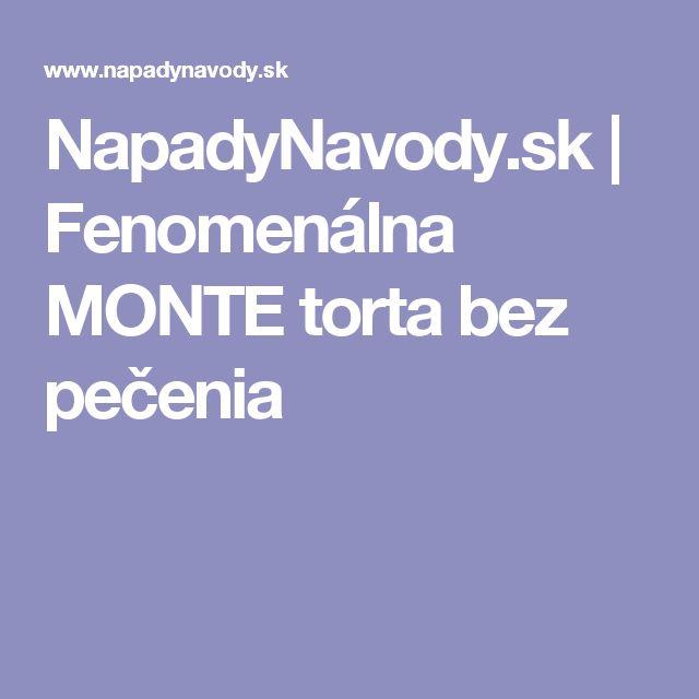 NapadyNavody.sk | Fenomenálna MONTE torta bez pečenia