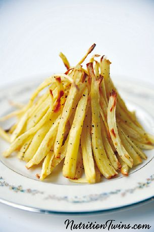 Parsnip Fries | Only 50 Calories | Crunchy & Tastes like the Real Deal | For MORE RECIPES please SIGN UP for our FREE NEWSLETTER www.NutritionTwins.com