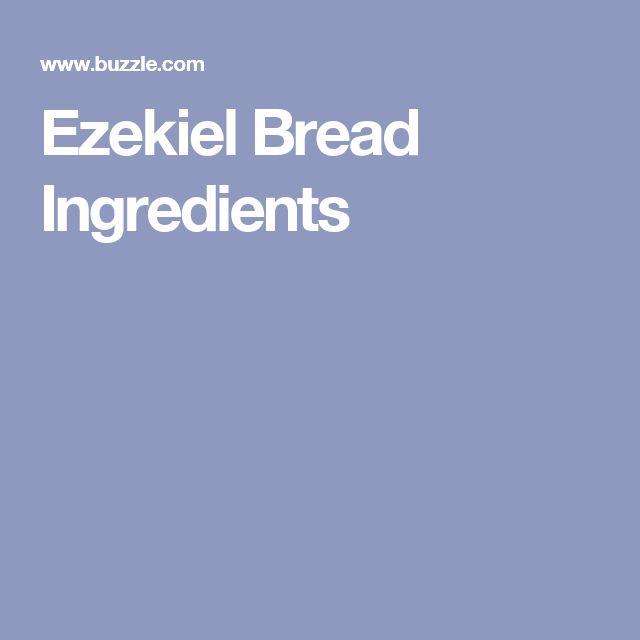 Ezekiel Bread Ingredients