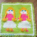 İnsan Desenli Lif #washcloth #örgü #lif #knit #knitting #crochet
