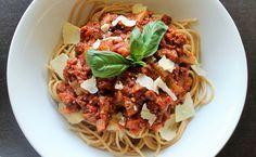 Bolognese saus met spaghetti