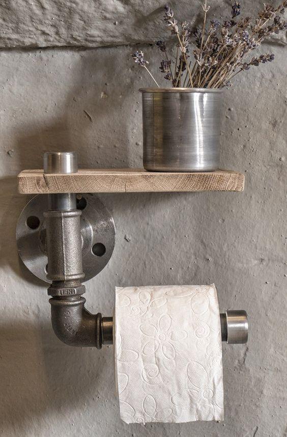 industrial rustic bathroom industrial pipe toilet by eskidenvol2: