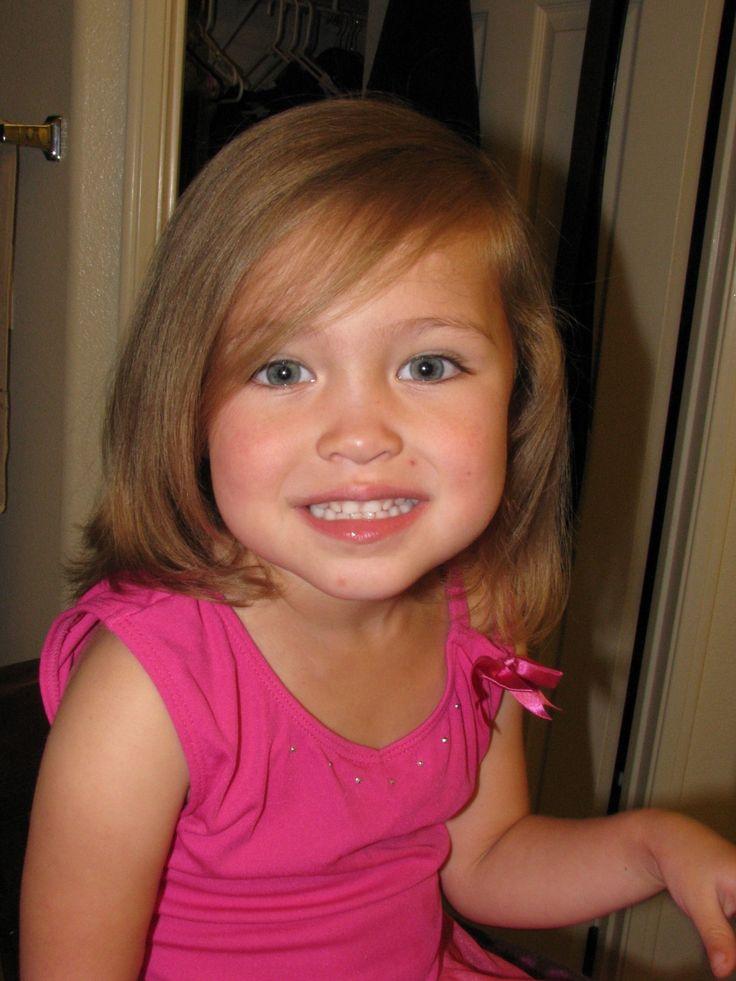 cutest haircut for little girl with long hair cute little