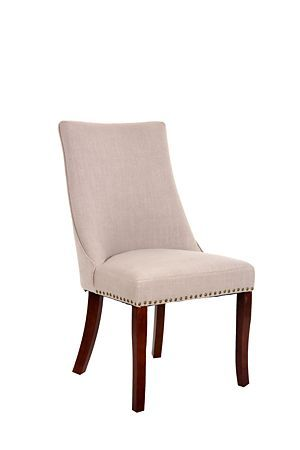 """Our Claremont Dining Chair is ideal for your classic dining room setting. Upholstered in a polylinen with studded detail.<div class=""""pdpDescContent""""><ul><li> Polylinen</li><li> Rubber wood legs</li><li> Assembly required</li></ul></div><div class=""""pdpDescContent""""><BR /><b class=""""pdpDesc"""">Dimensions:</b><BR />L50xW61xH98 cm<BR /><BR /><div><span class=""""pdpDescCollapsible expand"""" title=""""Expand Cleaning and Care"""">Cleaning and Care</span><div class=""""pdpDescContent"""" style=""""display:none"""