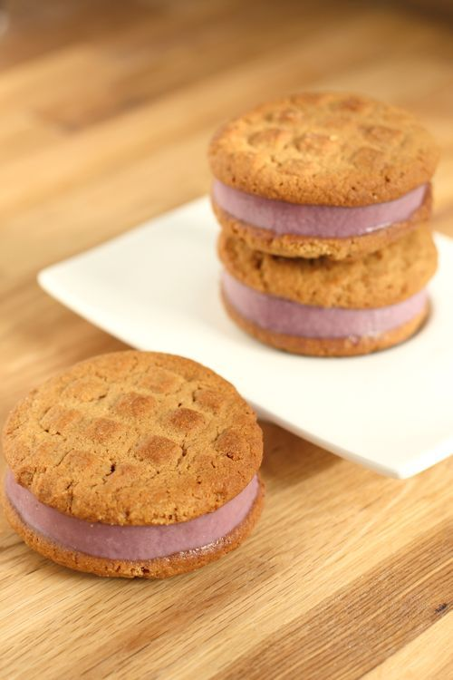 PB Ice Cream Sandwiches | Gardens and Summer and Sunshine | Pinterest