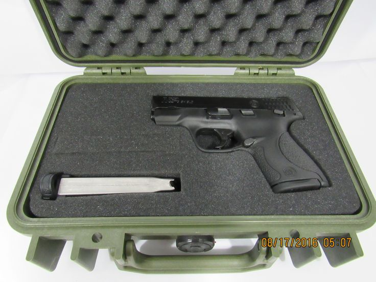 Pelican Case 1170 With Custom Insert for Smith & Wesson Shield & Magazines