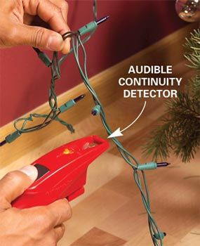 A simple tester helps you fix holiday light strings fast