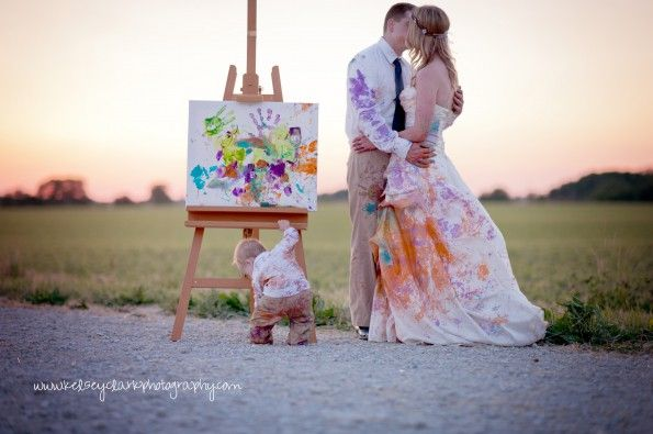 Trash the Dress and Family session in one!  Photographer Feature with Kelsey Clark Photography.