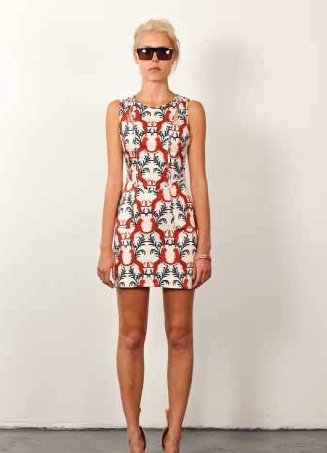 Three of Something Gryphon peplum dress. Fitted sleeveless peplum dress in awesome gryphon print! $140