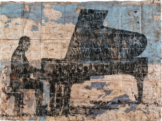 Pianofortista, 2013  mixed medium on paper, cm 203x280