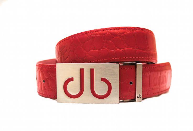 Druh Belt Tour Collection - Red Croc Texture