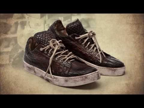 DAMI Sneakers video  Crocodile leather sneaker and shoes