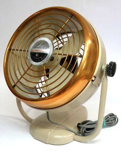 Vintage 1950's Deco Copper Face Electric Fan Silex Chicago Elec. Div. VERY RARE