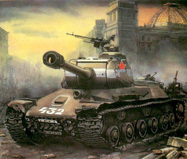 V  Lobachev  Tanks of the 7th Guard tank brigade in Berlin, 1945