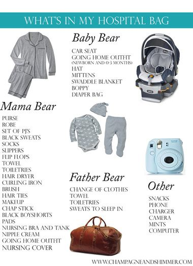 what to pack in your hospital bag, hospital bag, baby hospital bag, birth hospital bag