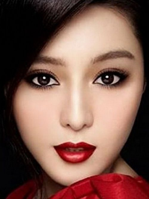 Beautiful Asian Girl Eye Makeup