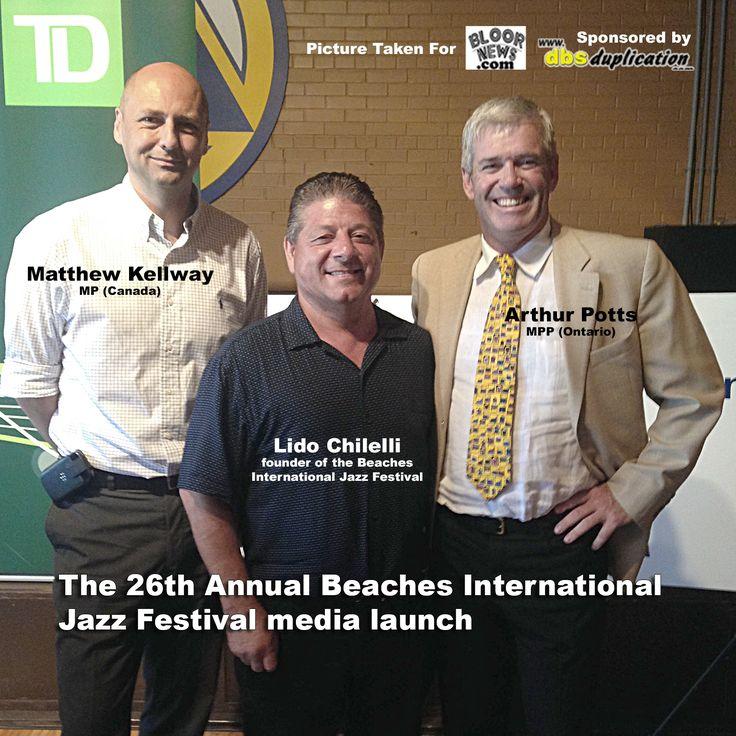 Matthew Kellway MP (Canada)  Lido Chilelli founder of the Beaches International Jazz Festival  Arthur Potts MPP (Ontario)  http://dbsduplication.com/