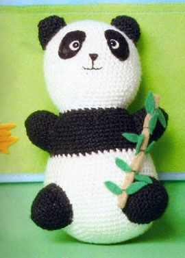 Amigurumis en español. Patron oso panda: Amigurumis In, Like Knitting, Panda Amigurmi, In Spanish, Pandas, Amigurumi Patterns