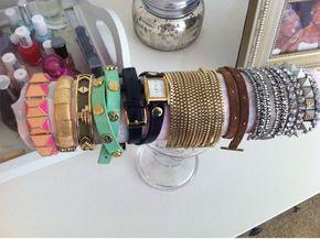 DIY bracelet holder. I've been needing an organizer for these bangles!