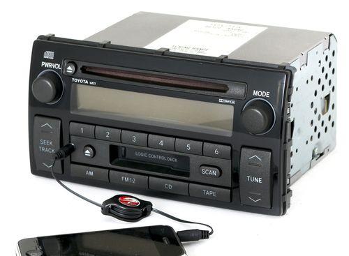 Toyota 2002-2004 Camry LE Radio AM FM CD Cassette w Aux Input 86120-AA040 16823