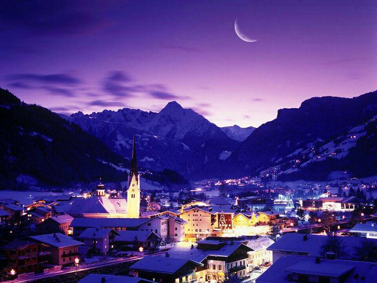 First skiing holiday, Zell am Ziller, Austria.