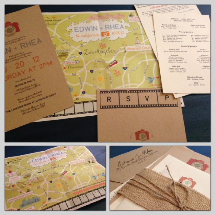 wedding invitations map%0A custom map fold out wedding invitation