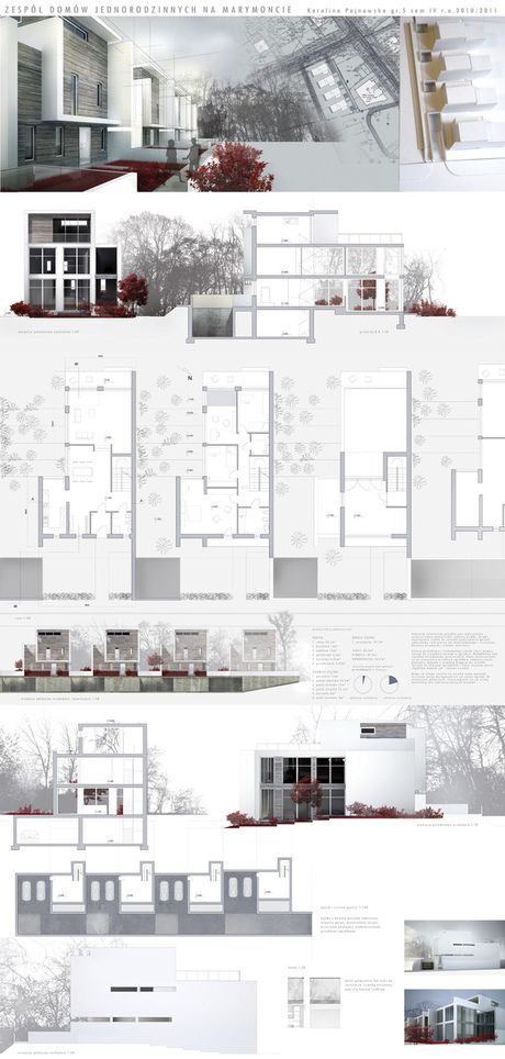 ecological housing project in Marymont district by Karolina Pajnowska, via Behance