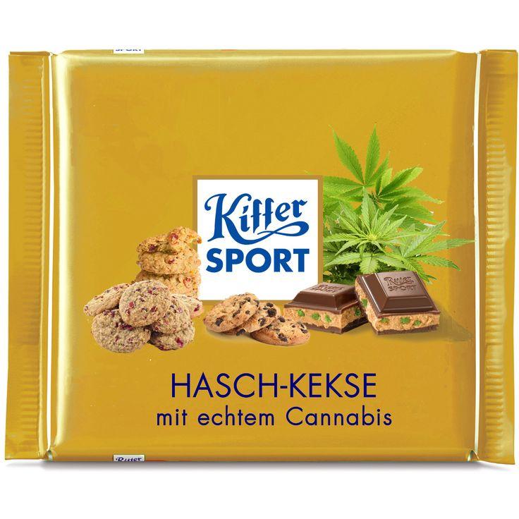 Ritter Sport Fake Sorte - Cannabis - Kiffer-Sport memake