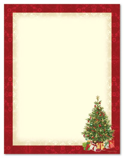 Lacy Tree Stationery Letterhead Christmas Stationery