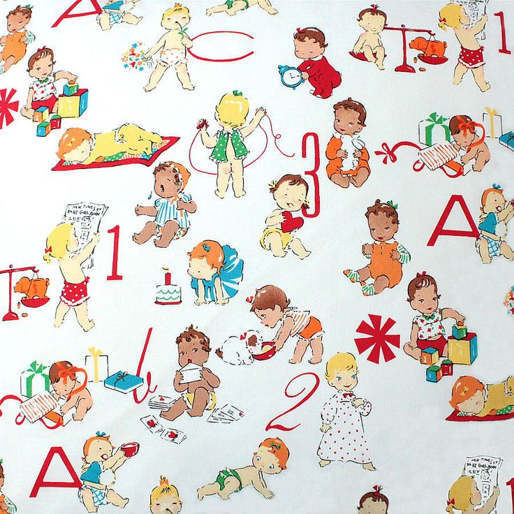132 best vintage retro prints images on pinterest for Nursery print fabric