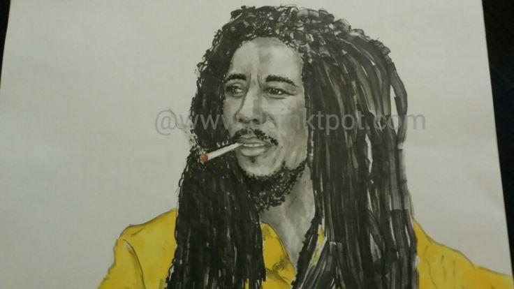 Bob Marley Www.deinktpot.com