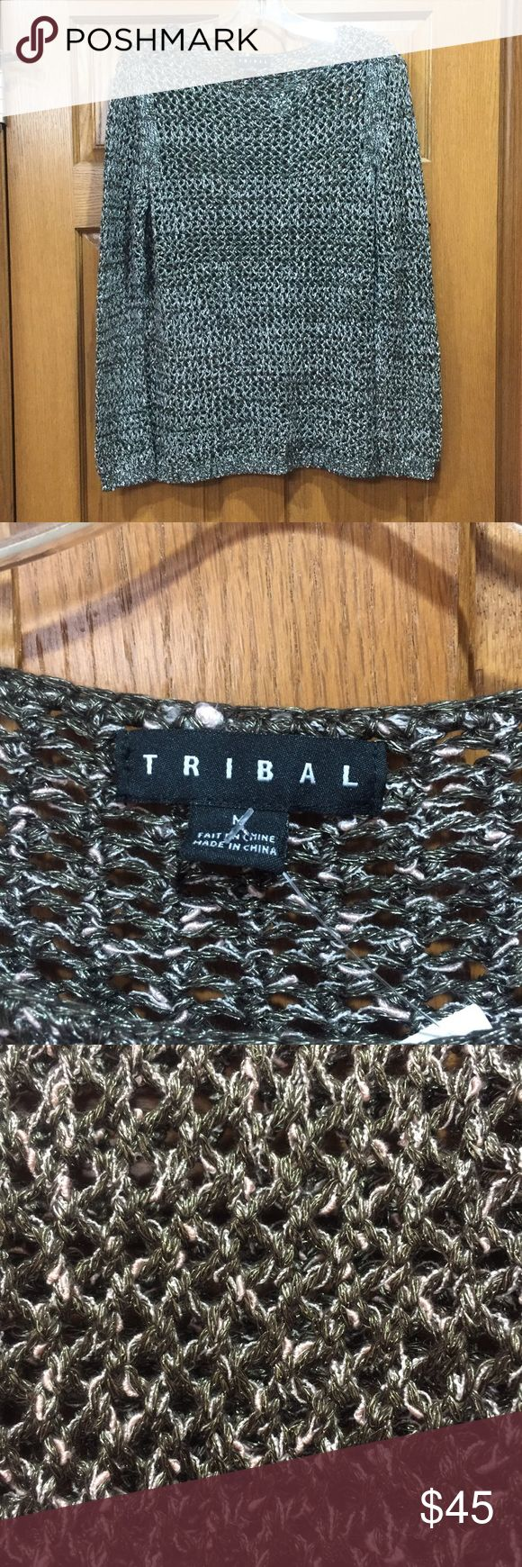 Tribal sweater Saddle brown Tribal sweater. Nwt and no snags. Perfect condition. Tribal Sweaters