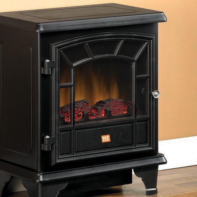 Redstone Black Electric Stove With Heater Tractor
